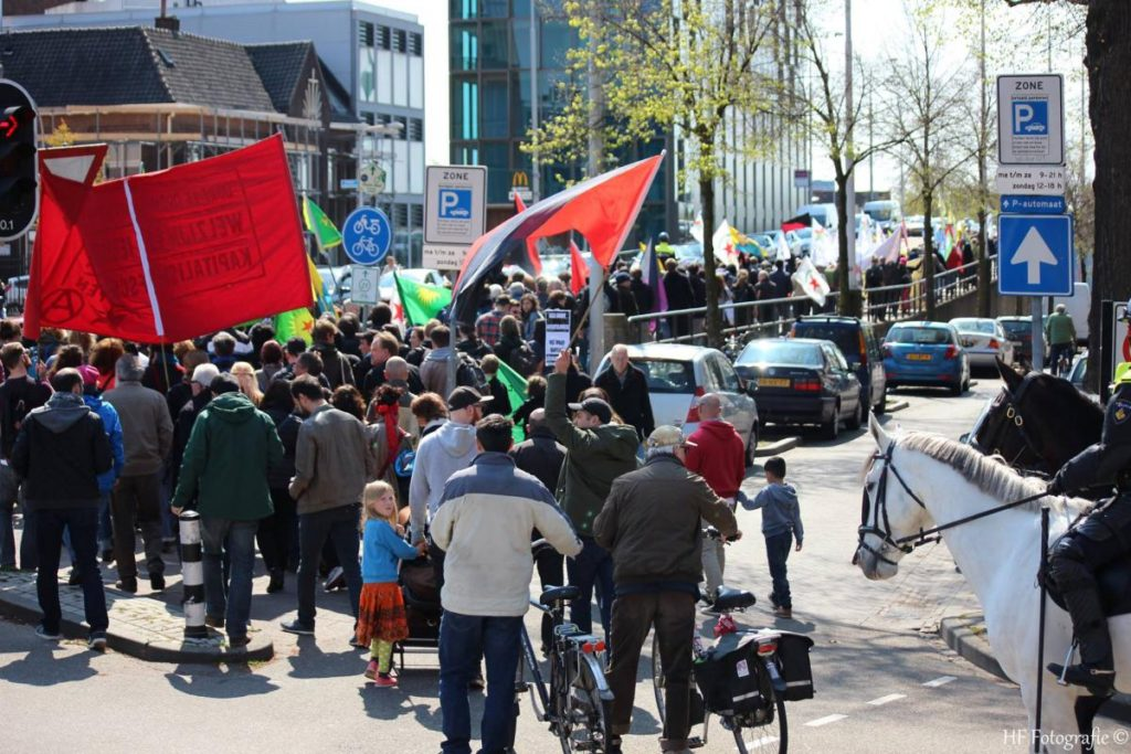 Demonstratie door Nijmegen