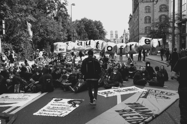 Solidariteitsactie in Munchen 8 sept